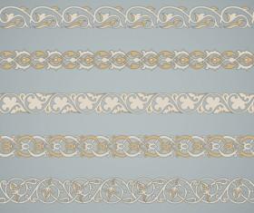 Ornaments tiling borders seamless vectors 02
