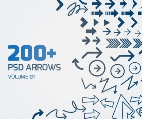 PSD arrows material graphics