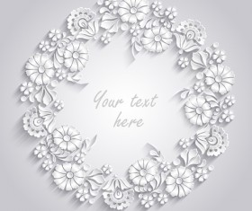 Paper flower background vector material 01