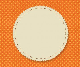 Paper lace card vector material 02