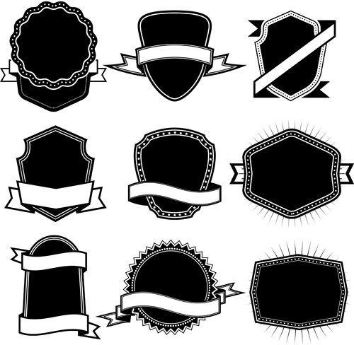 Ribbon With Labels Blank Template Vector 02 - Vector Label, Vector