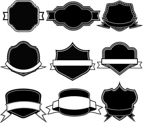 Ribbon With Labels Blank Template Vector 08 - Vector Label, Vector