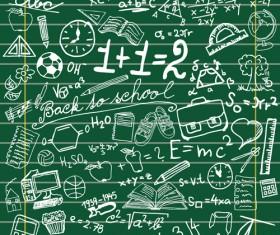 School chalk hand drawing elements vectors material 05