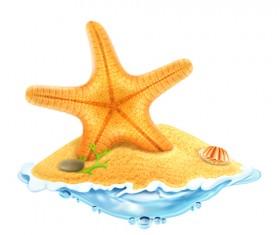 Sea island summer holiday elements vector background 03