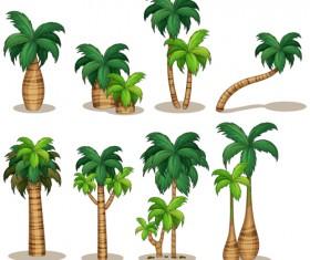 Sea islands palm tree vector material 05