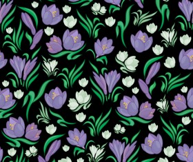 Seamless floral pattern beautiful vector material 06
