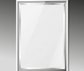 Silver photo frame vector material