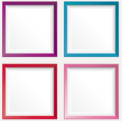 Simple colored photo frame vectors free download
