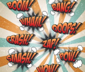 Speech bubbles cartoon explosion styles vector set 11