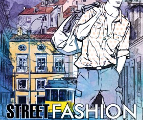 Street stylish everywhere hand drawing background vector 02