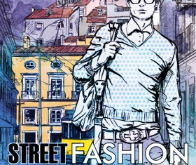 Street stylish everywhere hand drawing background vector 05