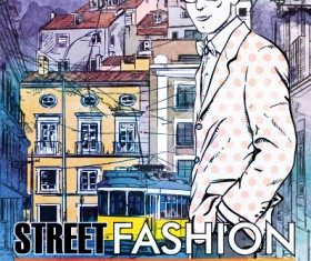Street stylish everywhere hand drawing background vector 22