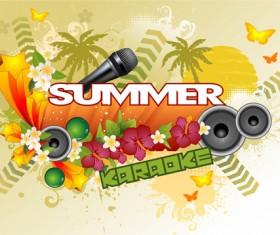 Summer concerts art background vector