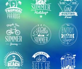 Summer holidays logos creative vector material 01
