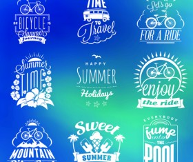 Summer holidays logos creative vector material 02