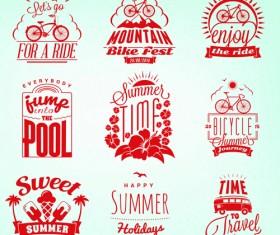 Summer holidays logos creative vector material 03