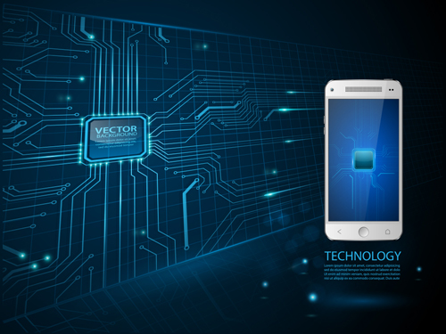 technology concept template background vector 01