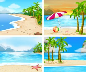Tropical travel sea background vector 02