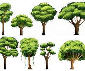Various tree vectors material set 02