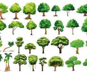 Various tree vectors material set 04