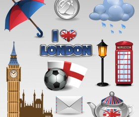 Vector great britain design elements set 01