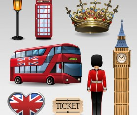 Vector great britain design elements set 02