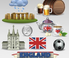 Vector great britain design elements set 03