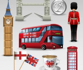 Vector great britain design elements set 05