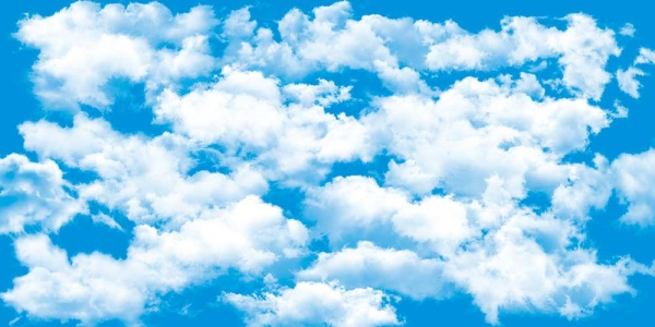 White cloud with blue sky psd background