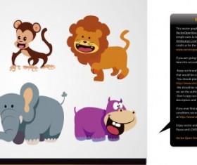 Wild animal cartoon illustration vector