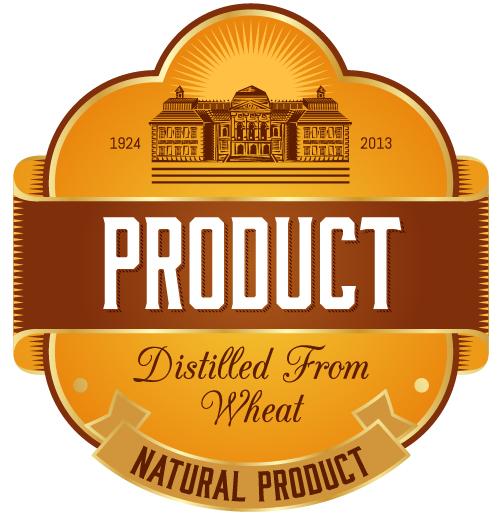 Wine label vintage design vector material set 37 Vector Label