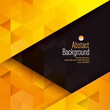 yellow with black modern abstract vector background free download