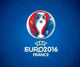 2016 European Cup logo psd material