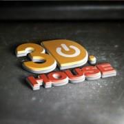 3d wordart metallic psd material