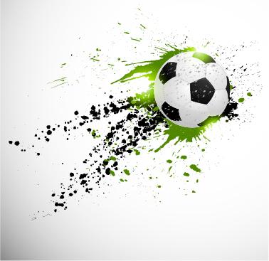 Abstract Soccer Art Background Vector 02 Vector