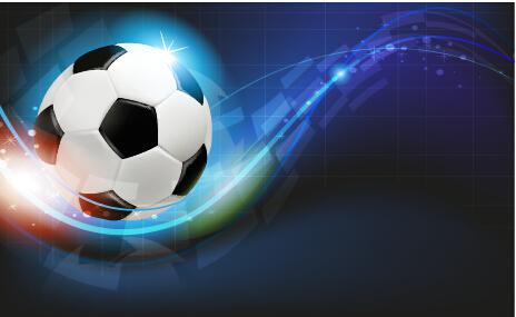 Abstract Soccer Art Background Vector 03 Vector