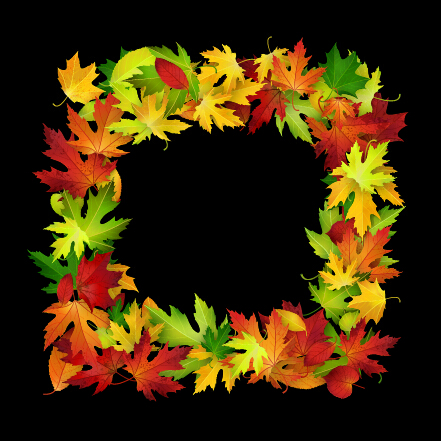 Autumn leaves beautiful background art 01
