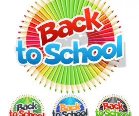 Back to school fashion vector material 04