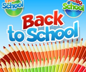 Back to school fashion vector material 05