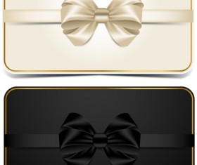 Beautiful bow with VIP invitation card vector 02