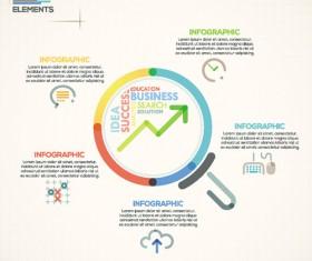 Beige infographics elements business template vector 07