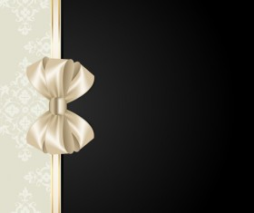 Beige with black background and bow vector