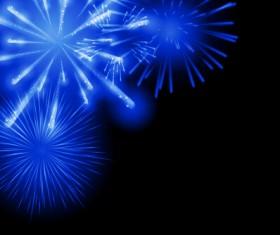 Blue fireworks vector background 04