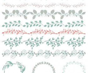 Borders with frame and laurel wreath cute vector 04