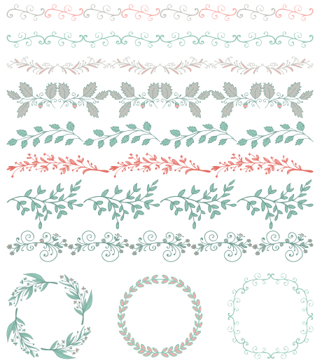 borders with frame and laurel wreath cute vector 04 free download