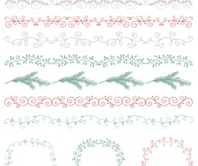 Borders with frame and laurel wreath cute vector 05