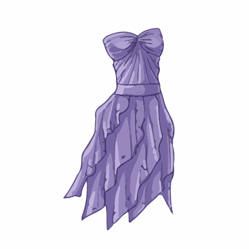Cartoon evening dress fashion vector illustration 01 free