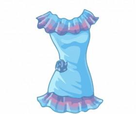 Cartoon evening dress fashion vector illustration 09
