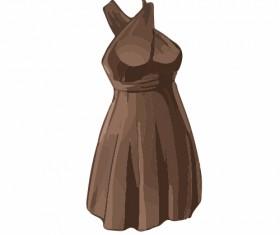Cartoon evening dress fashion vector illustration 11
