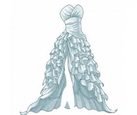 Cartoon evening dress fashion vector illustration 14
